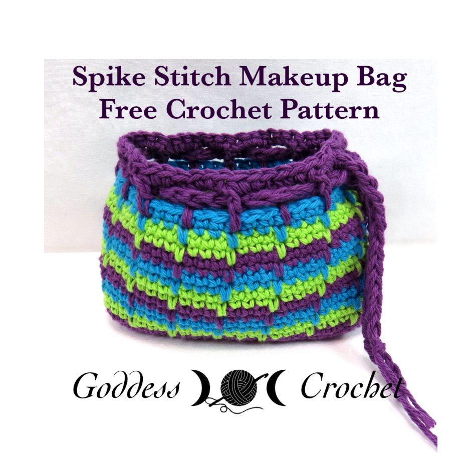 Free Crochet Pattern, Makeup bag