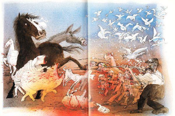 George Orwell S Animal Farm Illustrated By Ralph Steadman Ralph Steadman Animal Farm George Orwell Farm Animals