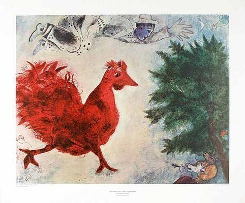 Roter Hahn Kunst bild marc chagall der rote hahn kunst komposter