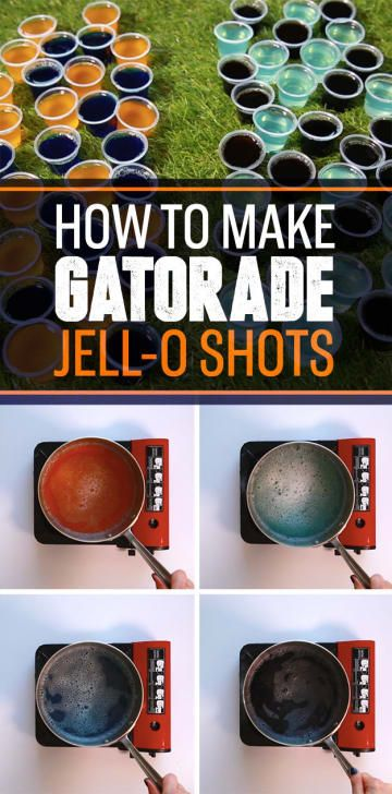 These Gatorade Jell-O Shots Are The Most Important Football Snack Of All Time #footballpartyfood