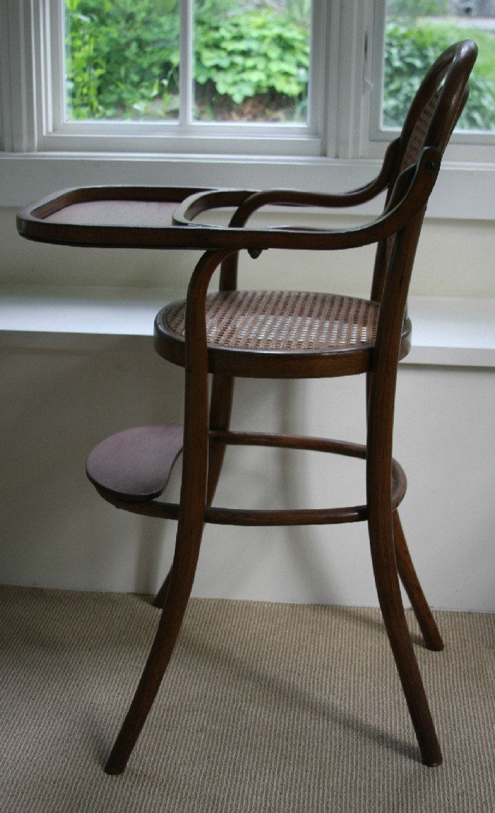 Summer Sale Thonet Style Baby High Chair Vintage Bentwood  # Muebles Fischel