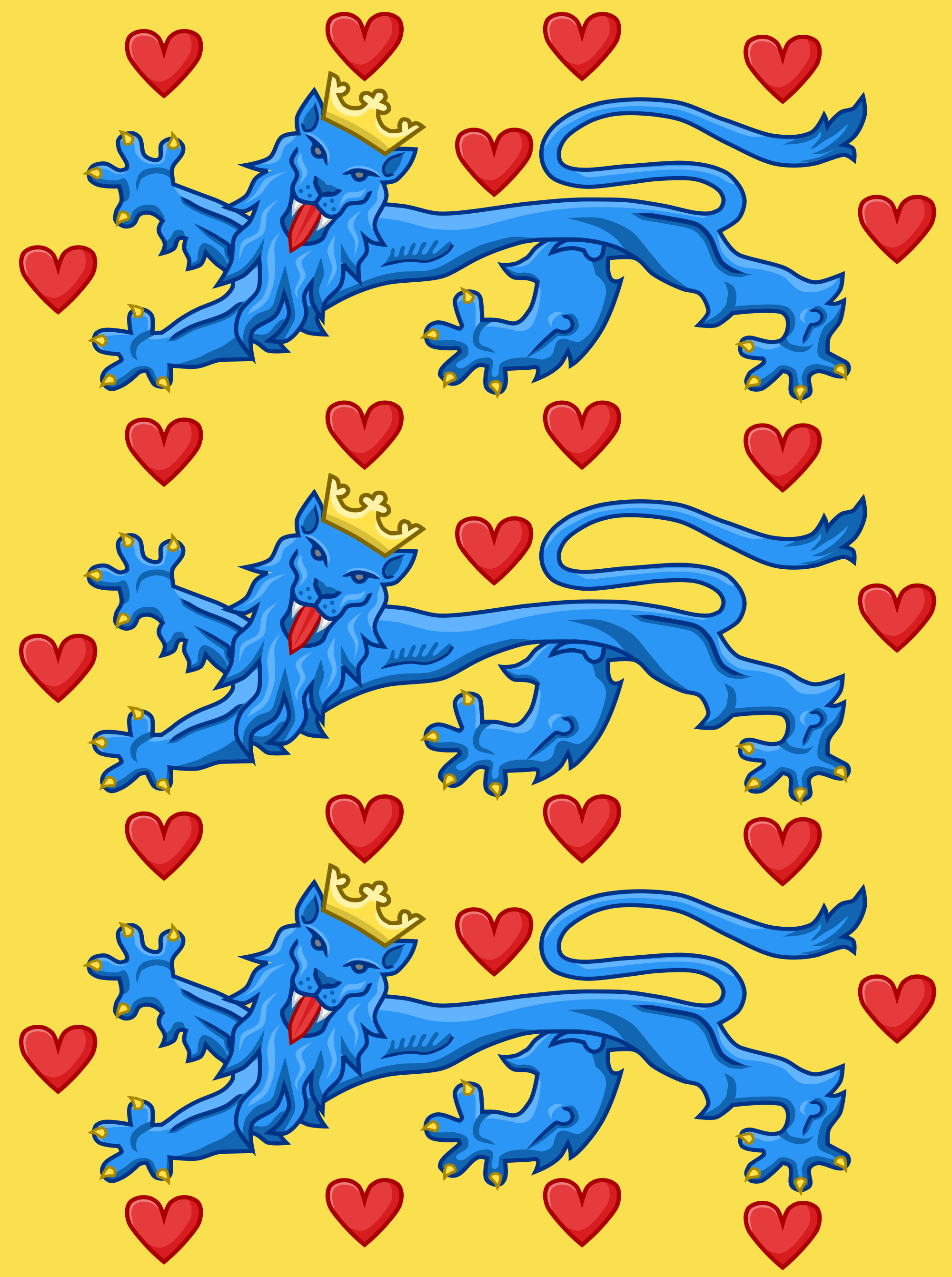 royal banner of the king of denmark in the 14th century based on
