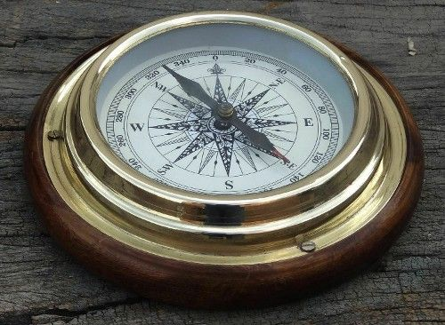 Nautical Sundial Marine Compass Brass Vintage Calendar Maritime Decorative Item