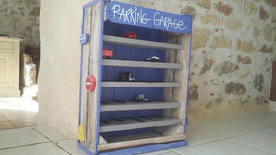 Garage Car Kids Storage Rangement Enfant Rangement Coffre A Jouets