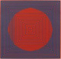 Composition rouge by Victor Vasarely