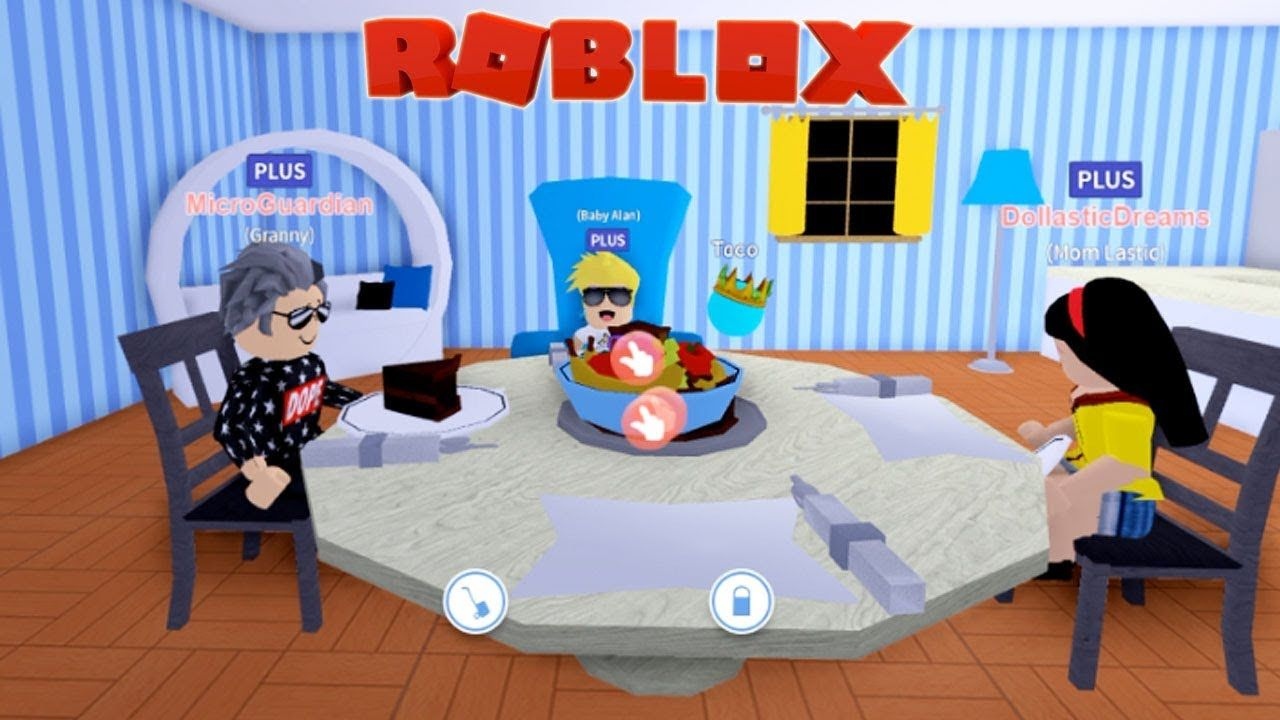 Granny Visits Baby Alan And Mom In Meep City Roblox Role Play