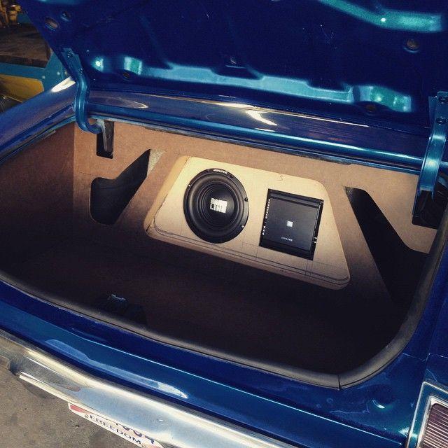 69 Chevelle Custom Car Stereo Trunk Install Sub Amp Audio
