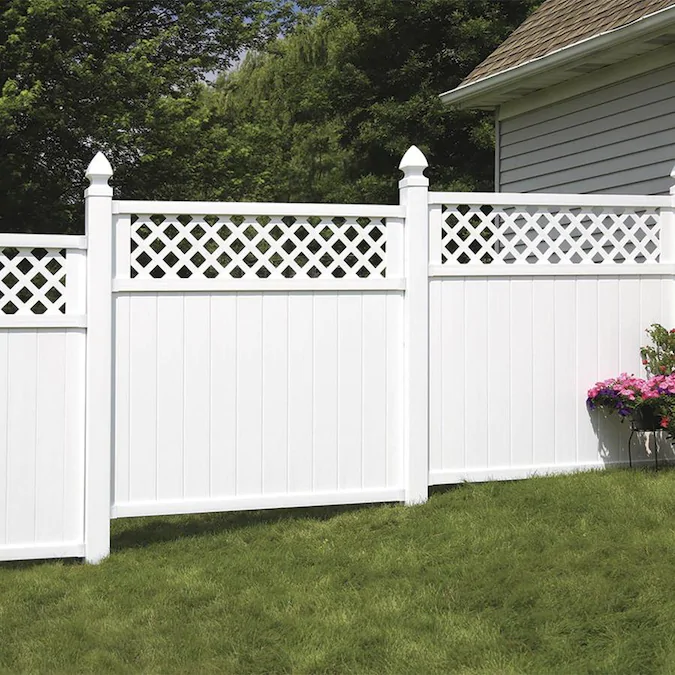 Freedom Pre-Assembled Wellington 6-ft H x 6-ft W White ...