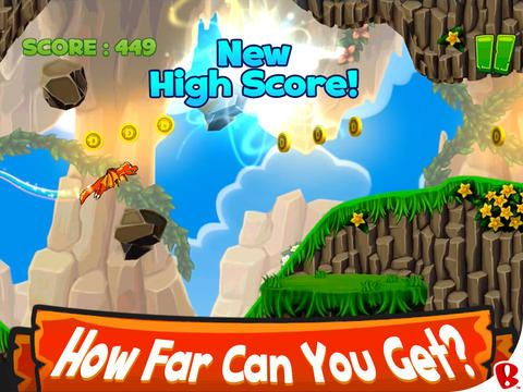 DragonVale Wings by Backflip Studios  The goal is to fly as far as you can. Score points by collecting coins and gems along the way. How far can you get?   • Touch to soar. Release to dive. • Avoid rocks & obstacles. • Collect coins & gems for points. • Compete for high scores. • Stay alive!