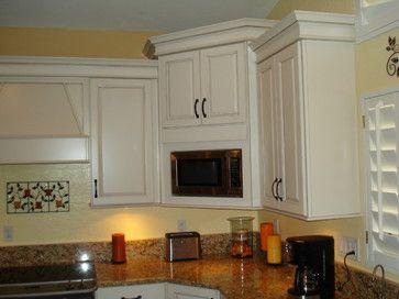 microwave corner cabinet design ideas