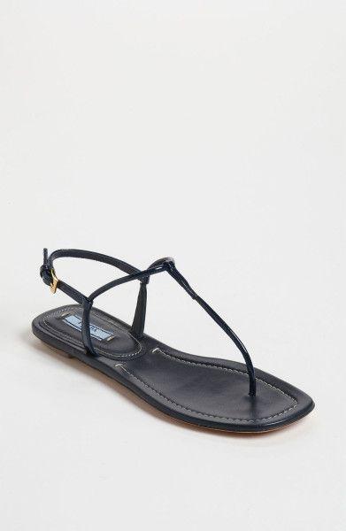 660b9ea61f21 Prada Blue Tstrap Thong Sandal