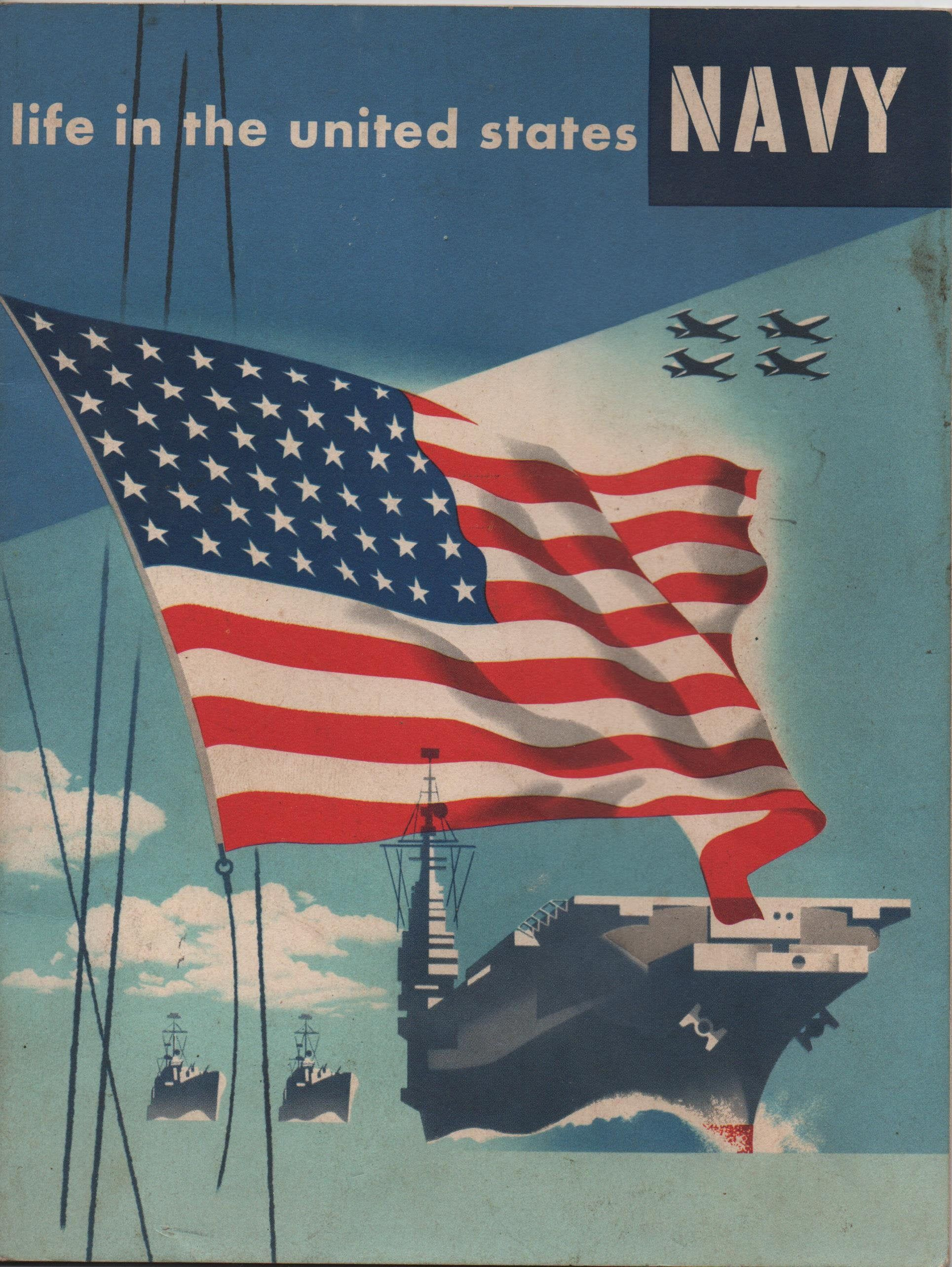 Life In The United States Navy Illustrated Booklet C1950s Etsy In 2020 United States Navy Illustration United States