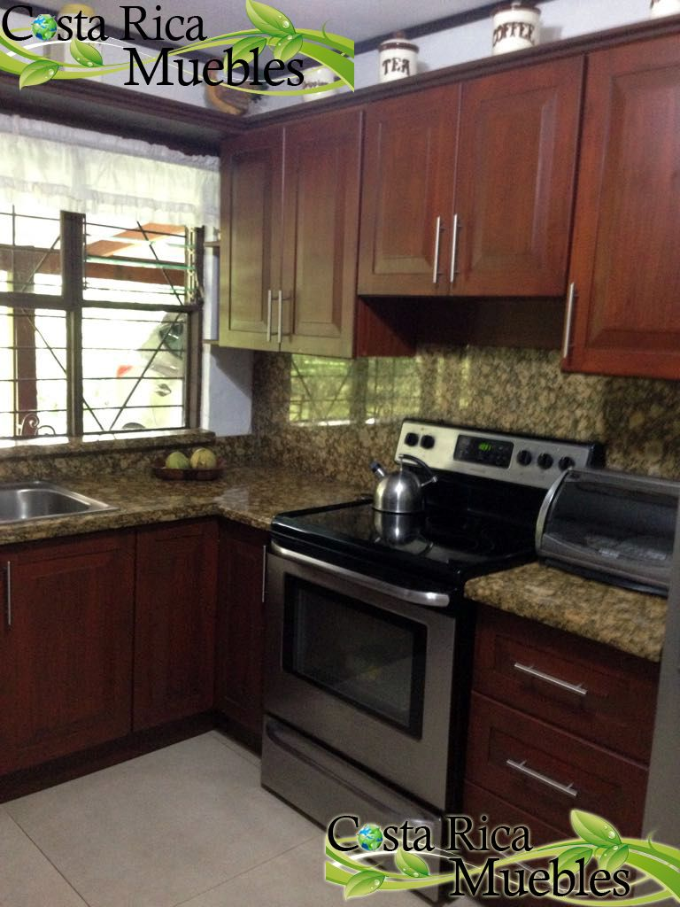 Instalaci N Mueble De Cocina Madera Fino Acabado Poliuretano  # Muebles De Cocina De Madera
