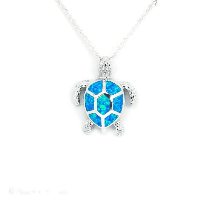 Sterling silver blue opal sea turtle pendant necklace blue opal sterling silver blue opal sea turtle pendant necklace blue opal turtle and jade aloadofball Image collections