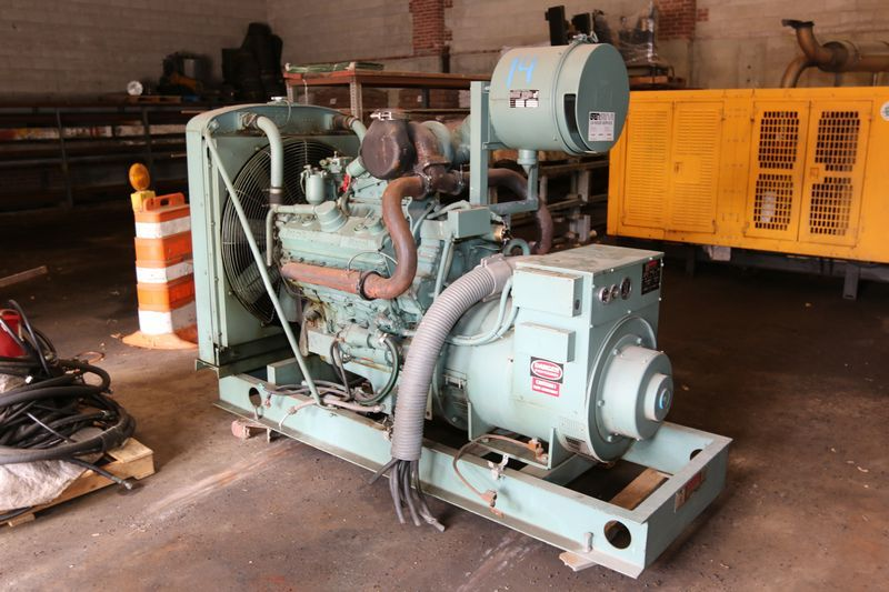 Absolute Auctions Realty Electric Generator Detroit Diesel
