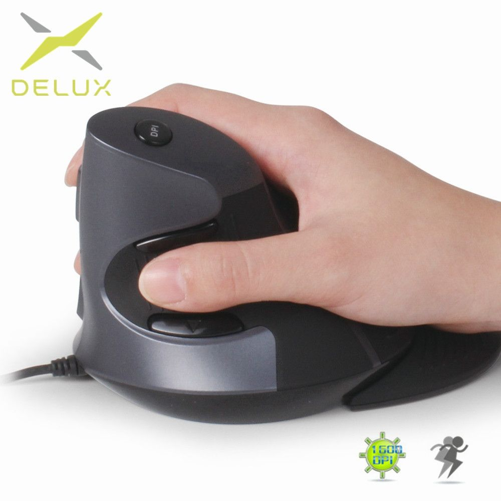 Ergonomic Design USB Vertical Optical Mouse Wrist Healing Confort for Computer