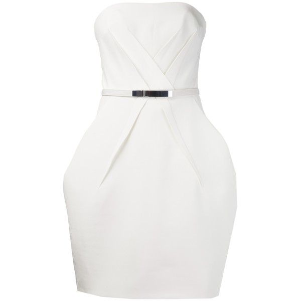 KAUFMANFRANCO strapless belted dress