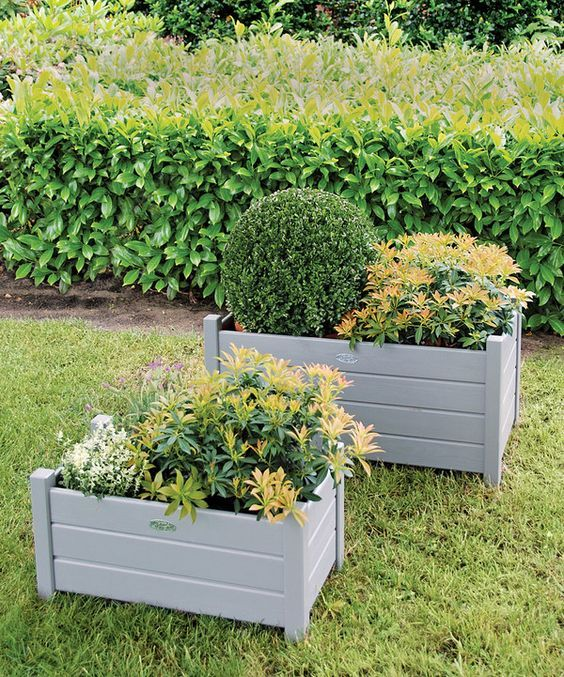 Resin Deck Planter Box Flower Garden Porch Yard Pot: Outdoor Wpc Flower Box With All Kinds Of Color