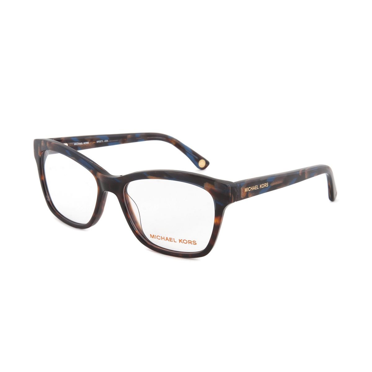 3d353f2a1e Micheal Kors Optic Eyeglass Frames include a a clear demo lens with print  and are prescription-ready.