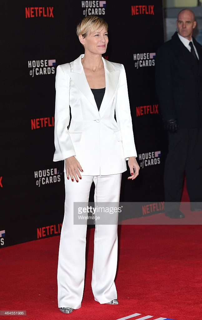 Robin Wright attends the World Premiere of 'House of Cards' Season 3 at The Empire Cinema on...