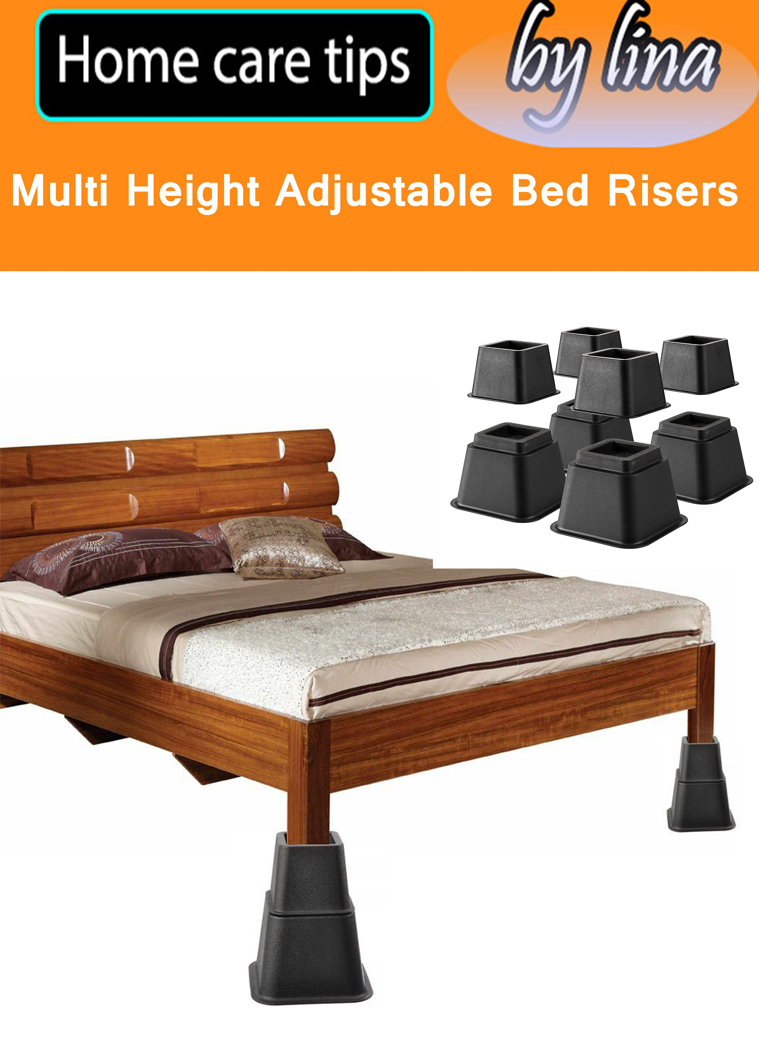 Heavy Duty Multi Height Adjustable Bed Risers Adjustable To 8 5