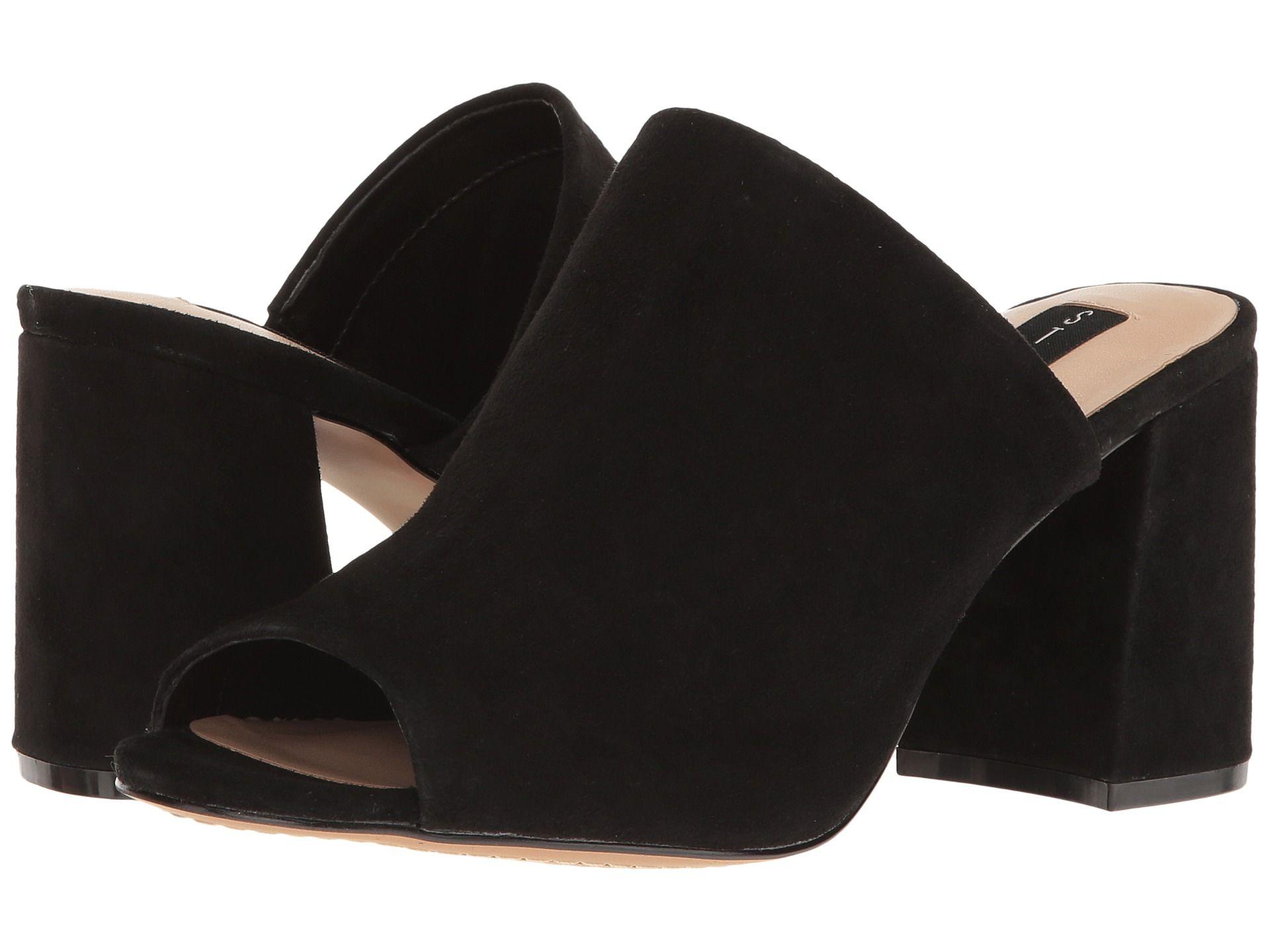 Steven Fume Black Suede Womens Shoes
