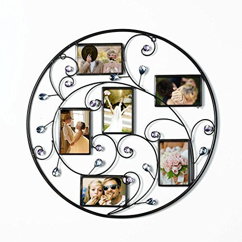 Adeco Brown Black Decorative 6opening Collage Bronze Iron Metal Wall Haning Scroll Picture Photo Fr Picture Frame Decor Gallery Wall Frames Metal Wall Hangings