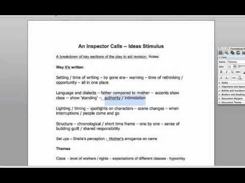 gcse english literature an inspector calls coursework Enable students to achieve their best grade in gcse english literature with this year-round course companion designed to instil in-depth textual understanding as students read, analyse and revise an inspector calls throughout the course.
