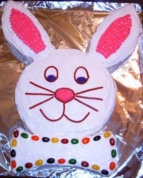 Old Fashioned Easter Bunny Cake I Loved Making This As A Kid