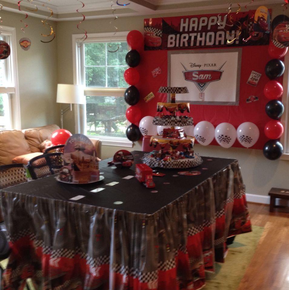 Main Table Leo Birthday Ideas Disney Cars Party Parties