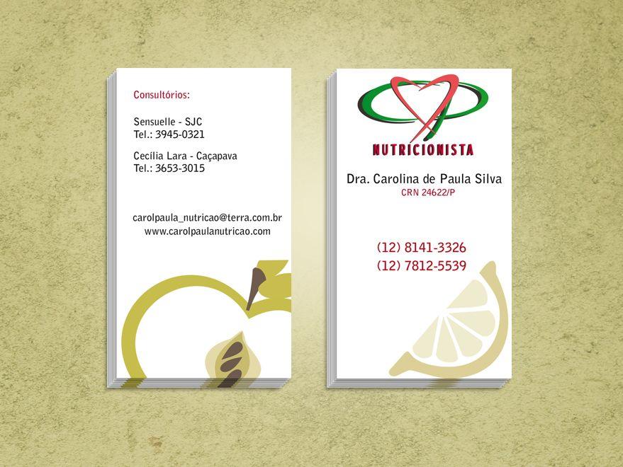Favoritos Cartão de Visita - Nutricionista | 4 business | Pinterest IT65
