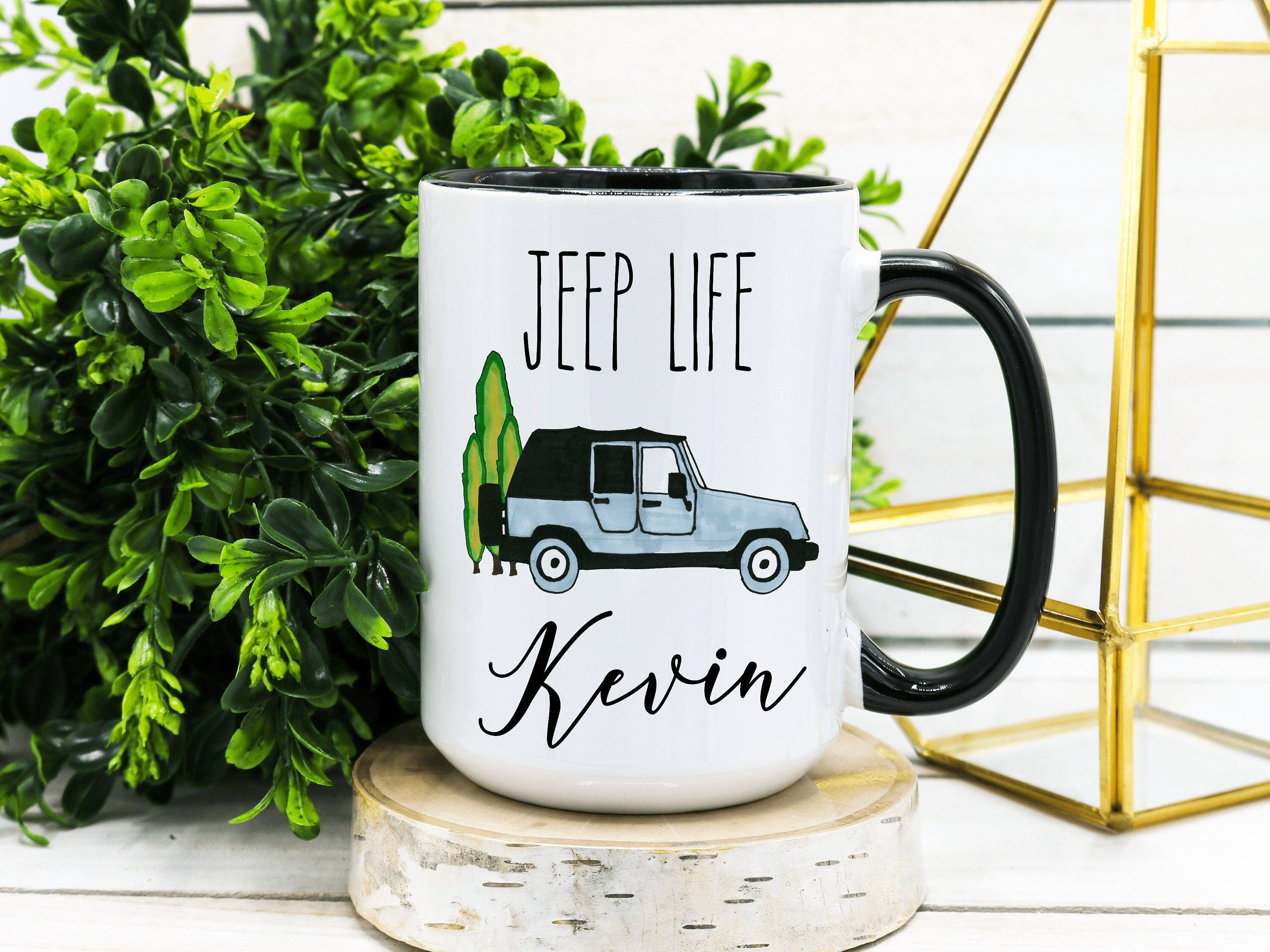 PERSONALIZED Name Jeep Life Coffee Mug, Jeep Gift, Jeep