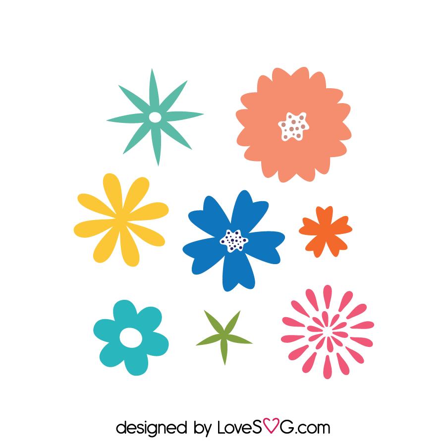 Download Flowers Set   Flower svg files, Flower svg, Cricut crafts