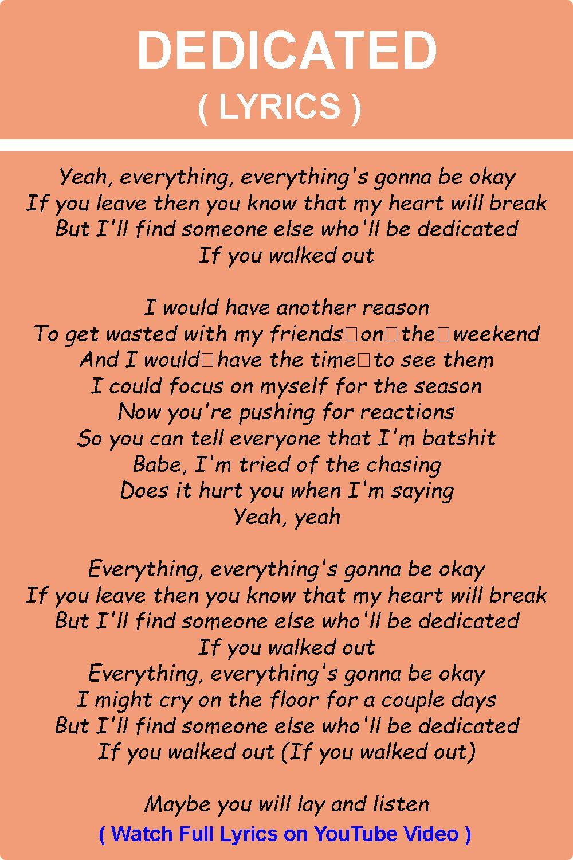 Dedicated Nea Lyrics In 2020 Lyrics Beautiful Songs Music Lyrics