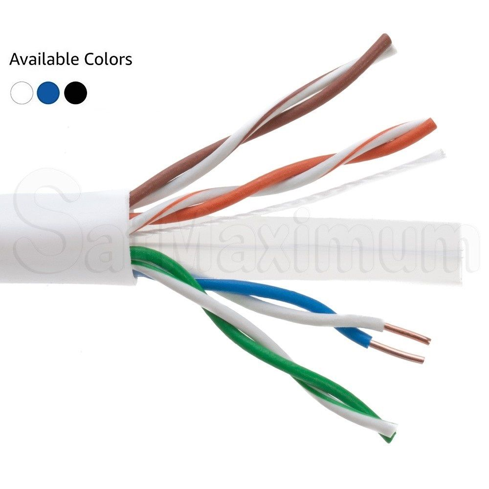1000ft Utp Solid Plenum Cat6 Ethernet Cable Bulk Wire In 2020 Ethernet Cable Cat6 Cable Cable
