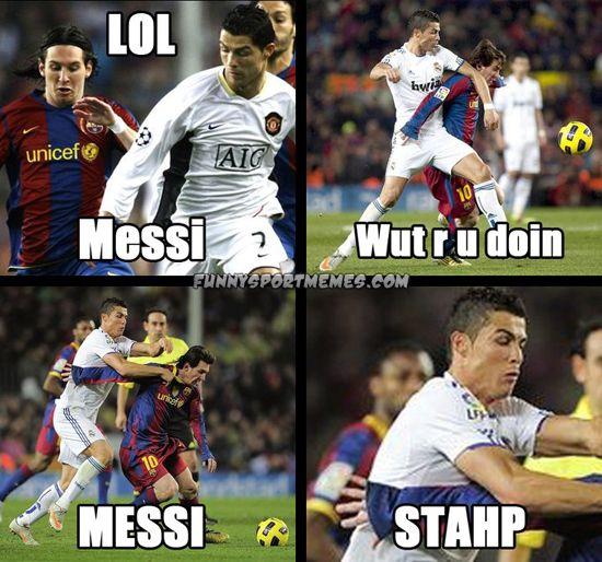 Lol Messi Jpg 550 514 Pixeles Memes De Futbol Cr7 Vs Messi Atletico De Madrid