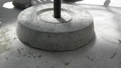 Diy Concrete Umbrella Stand Patio Umbrella Stand Umbrella Stand Diy Umbrella Base
