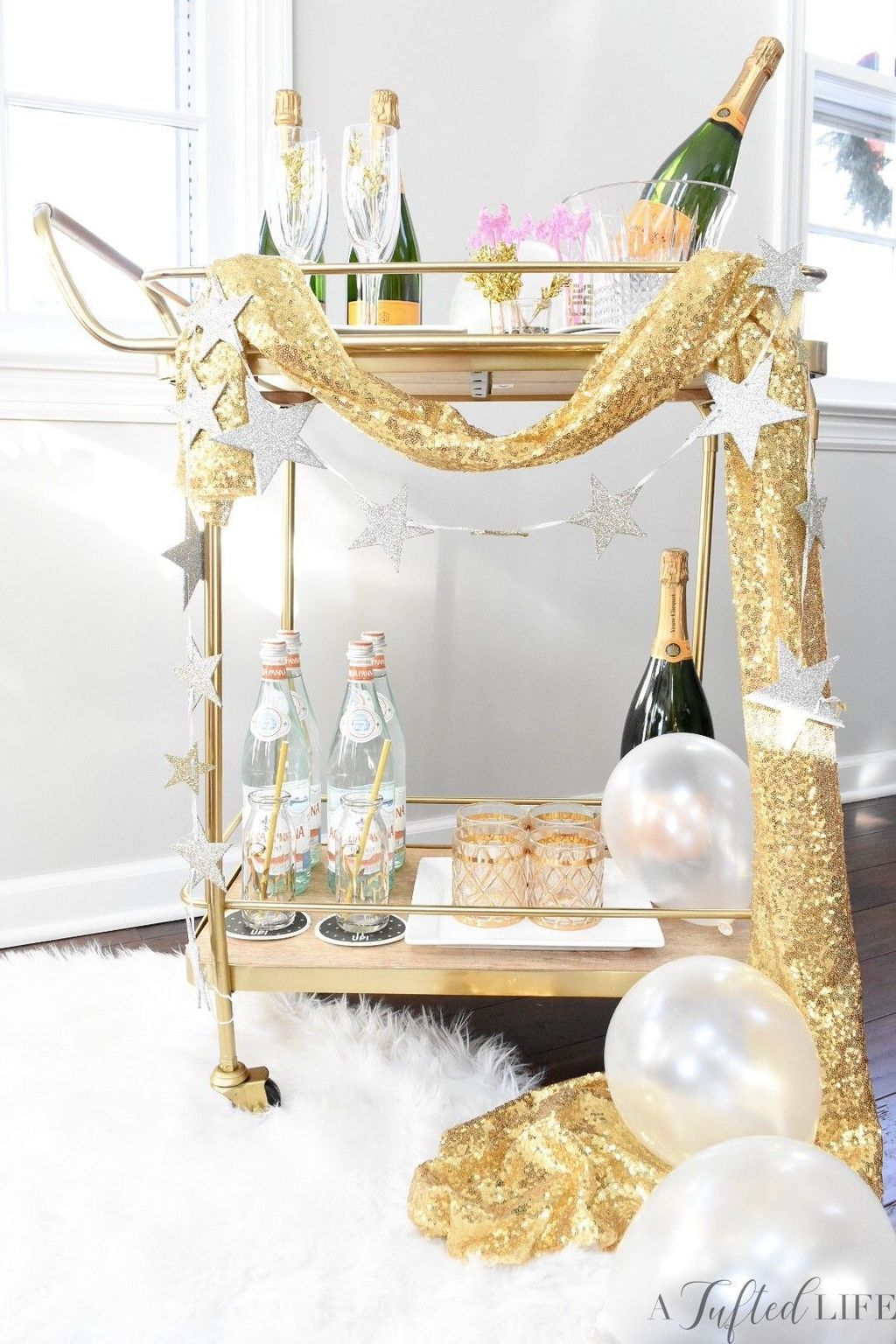 30+ Marvelous Bar Cart Ideas For Your New Years Eve Party