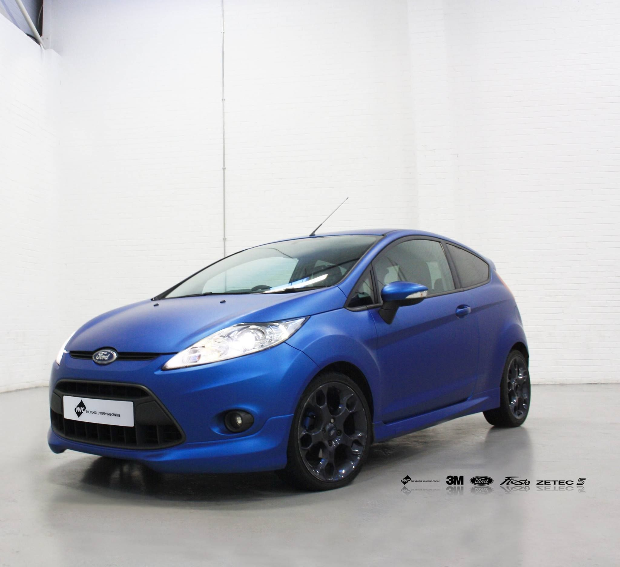 Ford Fiesta 3m Matte Metallic Blue Personal Vehicle Wrap Project