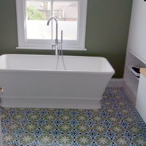 Moroccan Encaustic Tiles On Bathroom Floor Tiles Pinterest
