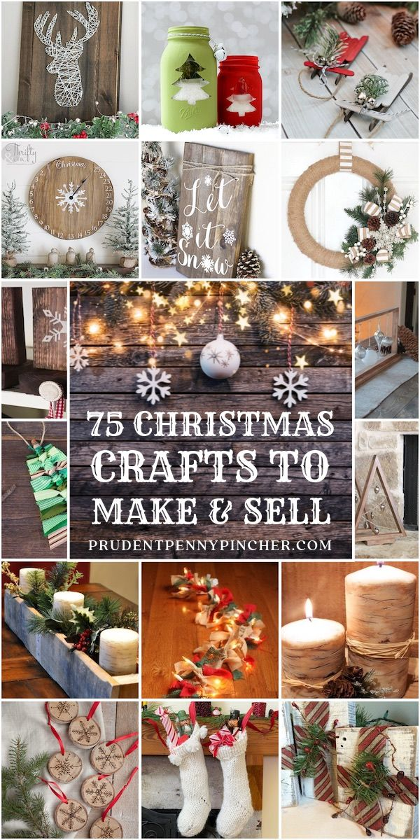 Photo of 75 Christmas Crafts to Make and Sell