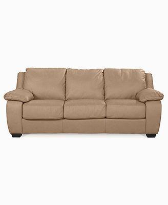 Blair Leather Sofa Bed, Full Sleeper 87\\\