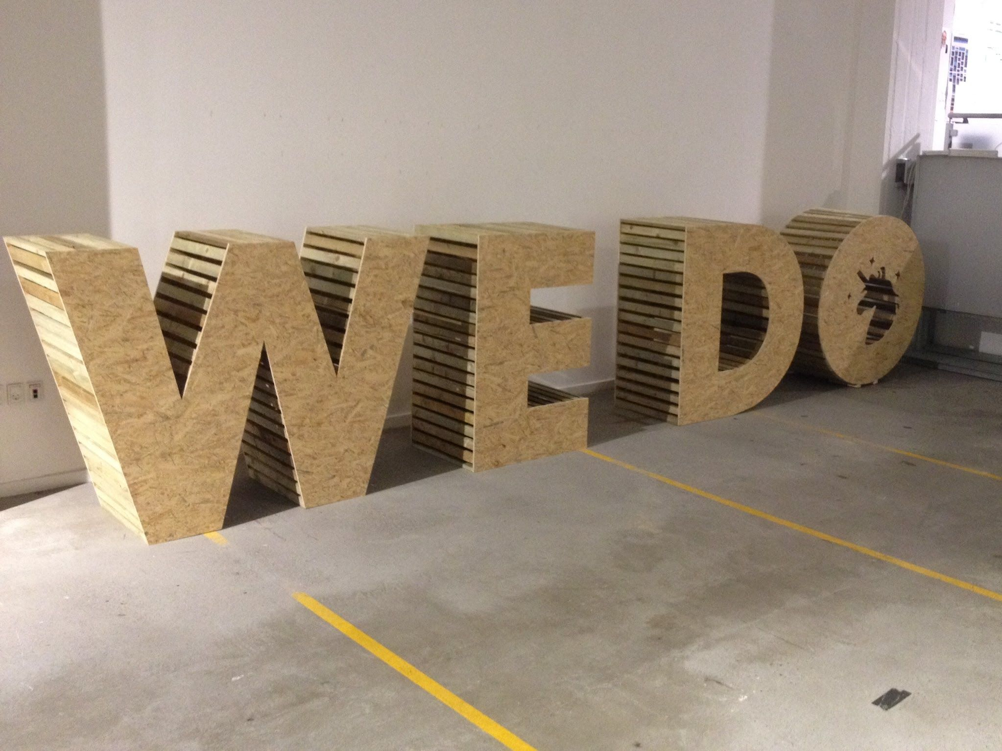 A Timelapse Of Building 4 Big Wooden Letters 120 Cm Tall For The Open Agency Event 2014 At Digitaslbi Large Wooden Letters Big Wooden Letters Wooden Letters