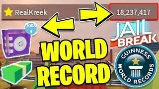 BREAKING Roblox Jailbreak!! *WORLD RECORD!* | Jailbreak Safe Auto