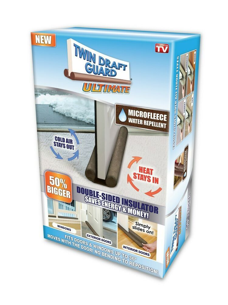 Ultimate Twin Draft Guard Double Sided Insulating Door Window