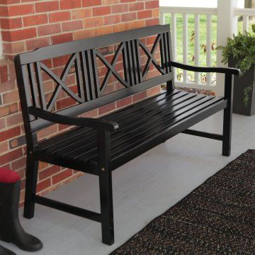 Fantastic Matera 5 Ft Painted Bench Black Outdoor Living In 2019 Ncnpc Chair Design For Home Ncnpcorg