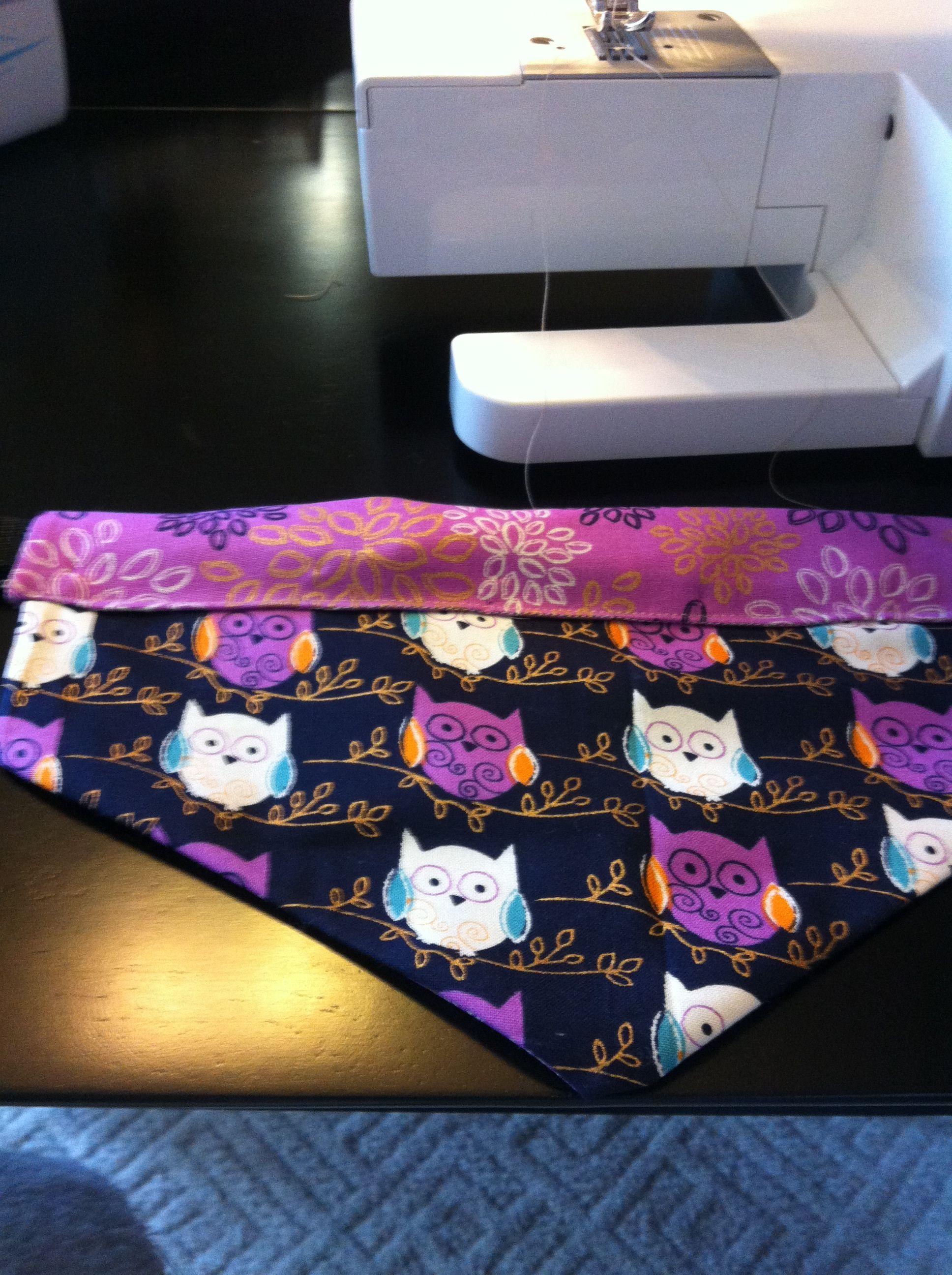 Bandana for dog's collar. Easy to make!