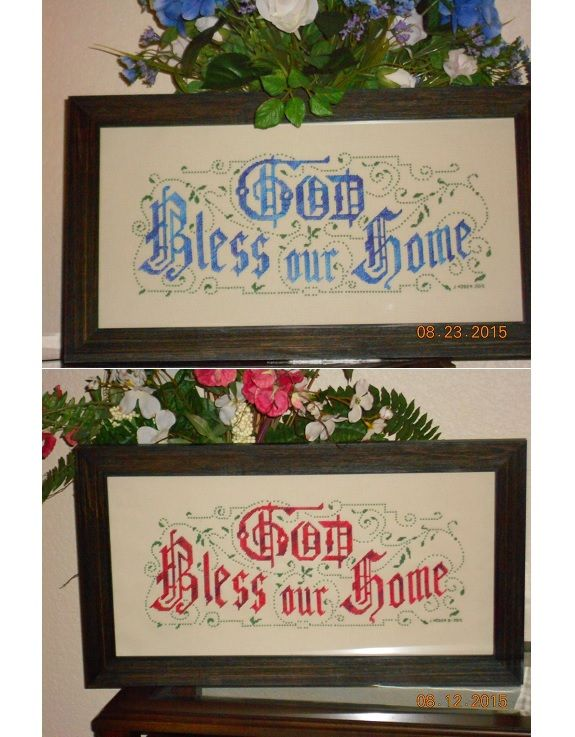 Cross Stitch, Religious, Inspirational, Bible, Faith. \