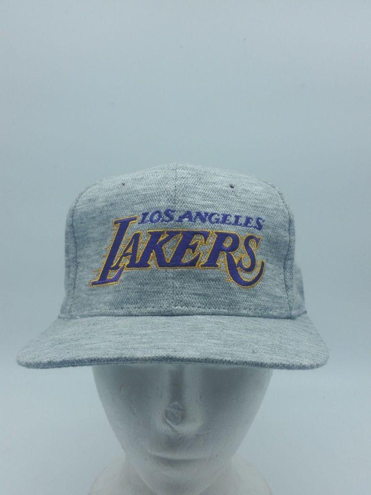 Vtg Los Angeles Lakers Script Heather Gray Wool Snapback Hat Sports Specialties Los Angeles Lakers Snapback Hats Hats
