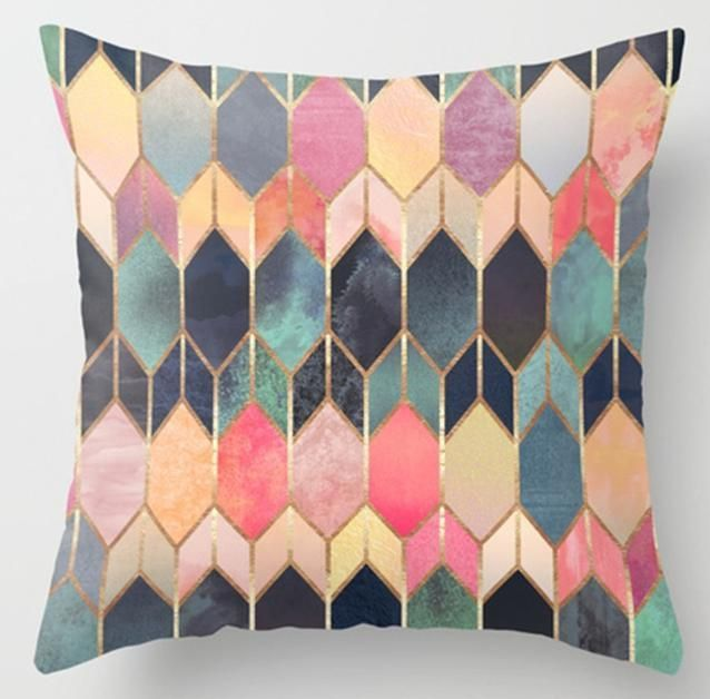 Irregular Triangle Pattern Pillow Cases Decorative Pillow Cases